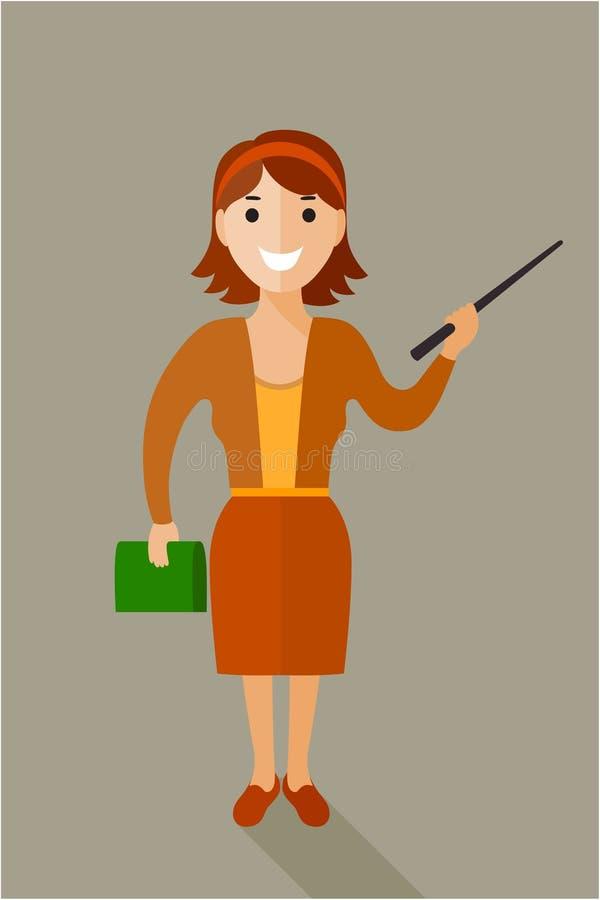 Femme sûre et amicale d'affaires tenant l'isola intégral illustration libre de droits