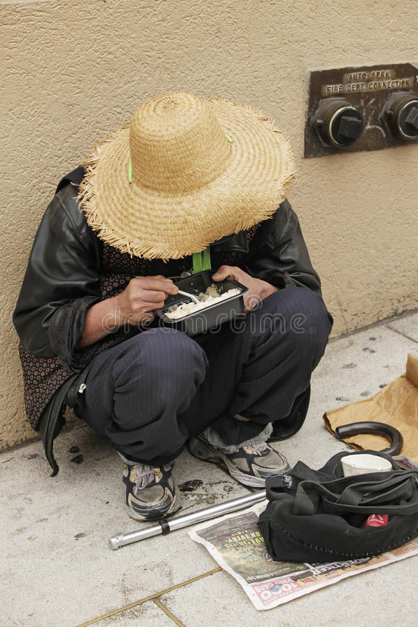 Femme sans abri chinoise image libre de droits