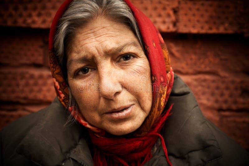 Femme sans foyer photo libre de droits
