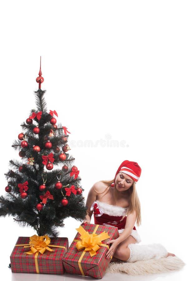 Femme Santa image stock