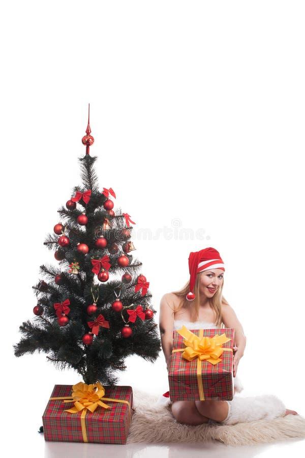 Femme Santa photographie stock libre de droits