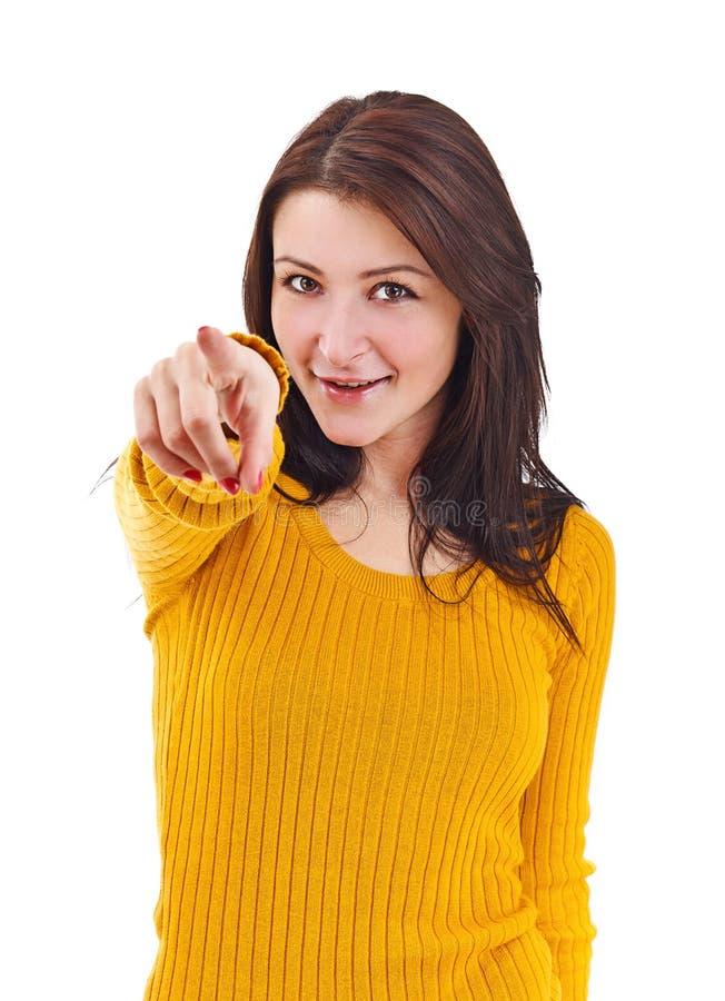 Femme se dirigeant sur vous photos libres de droits