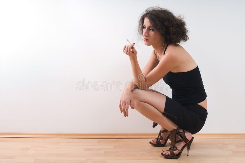 Femme seul photographie stock libre de droits