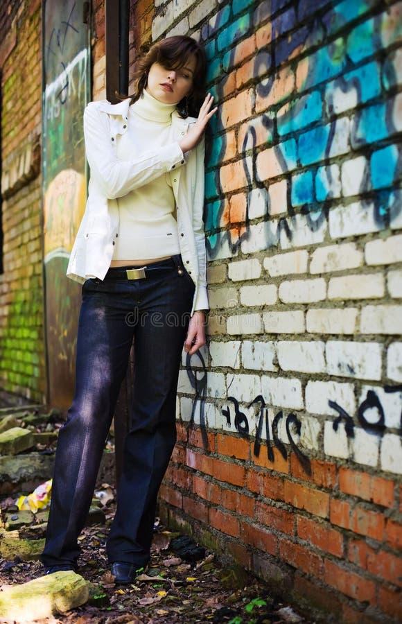Femme seule de toxicomane photos libres de droits
