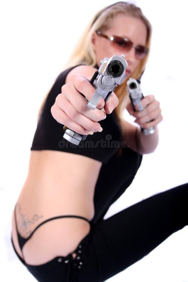 Download Femme sexy avec des canons photo stock. Image du fédéral - 736330