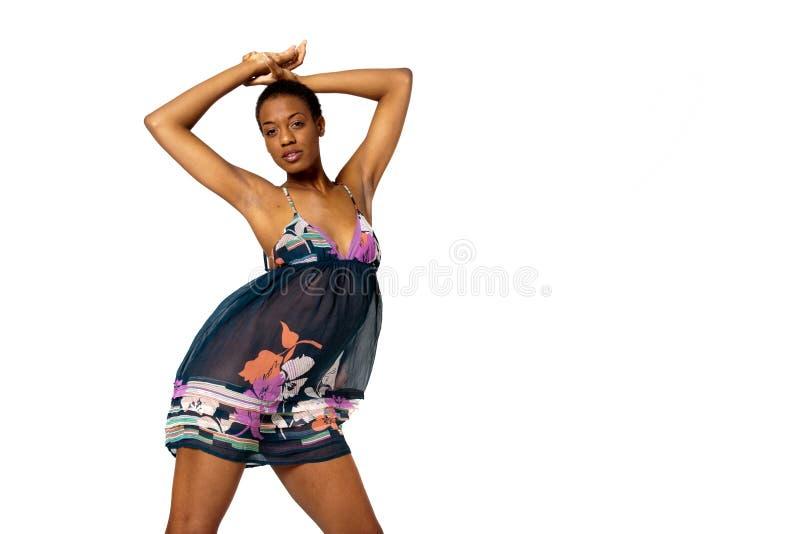 Femme sexy d'Afro-américain photographie stock libre de droits