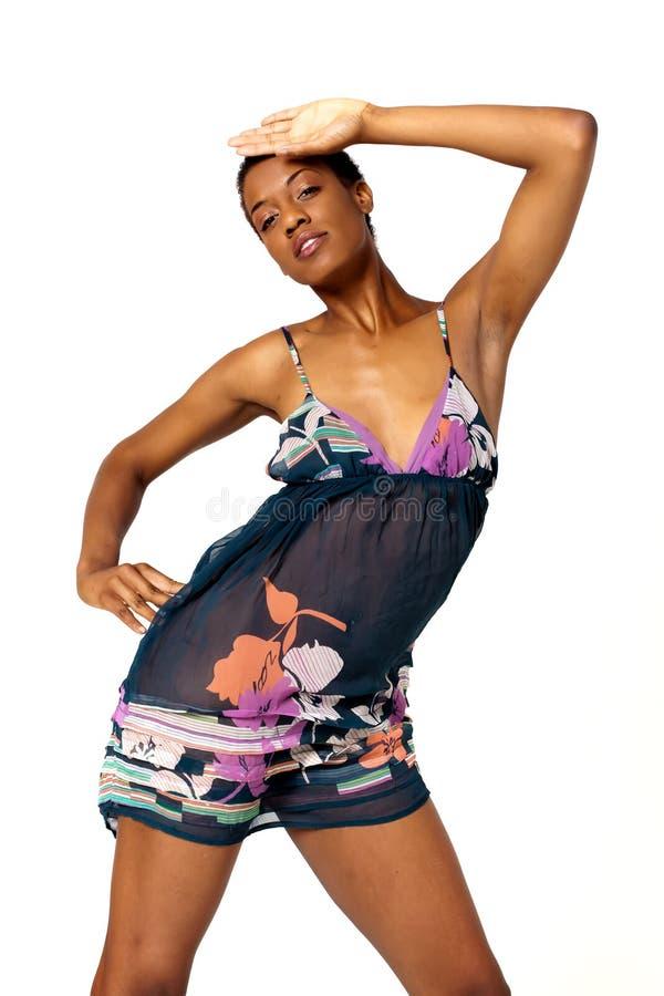 Femme sexy d'Afro-américain photo libre de droits