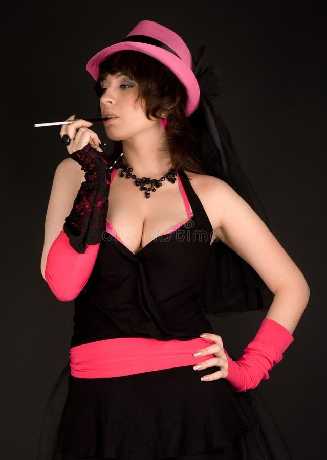 Femme sexy dans le rose image libre de droits