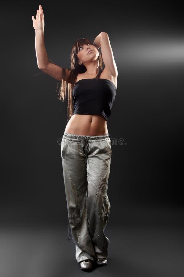 Femme sexy dans le studio image stock