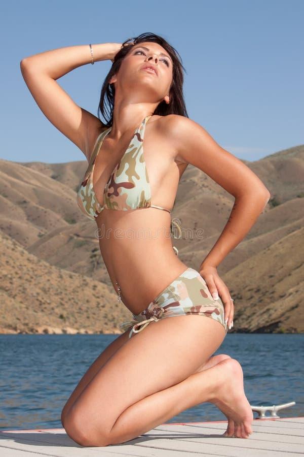femme sexy de bikini image stock
