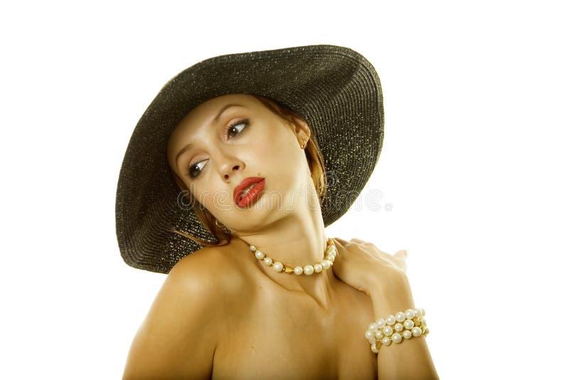 femme sexy de chapeau images libres de droits