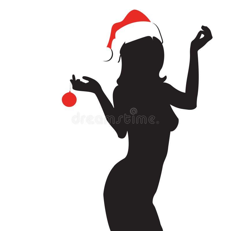 Femme sexy de Noël illustration de vecteur