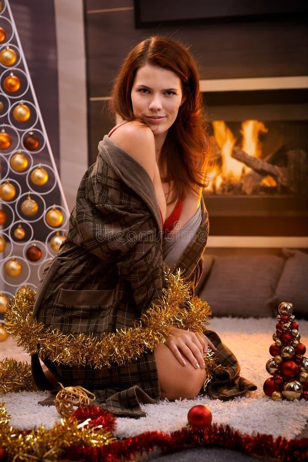 femme sexy de Noël photos libres de droits