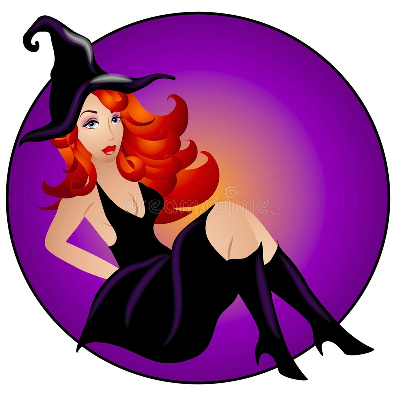 Femme sexy de sorcière de Veille de la toussaint illustration libre de droits