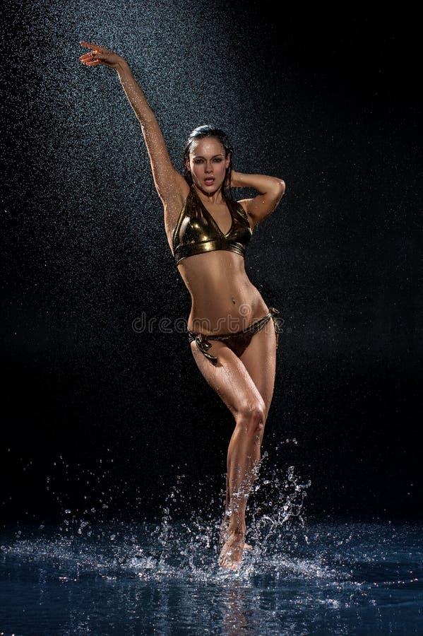 femme sexy sous la pluie image stock image du people 34317169. Black Bedroom Furniture Sets. Home Design Ideas