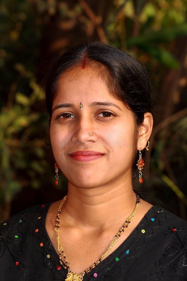 Femme simple de Maharshtrian photos libres de droits