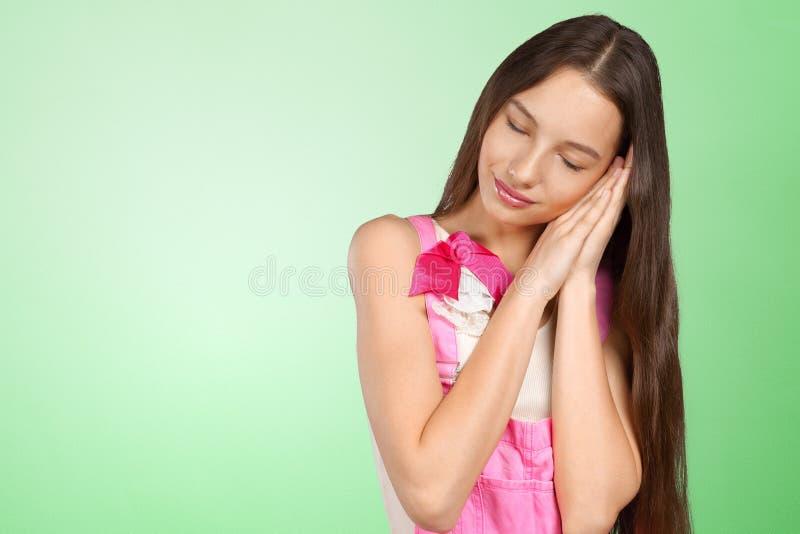 femme somnolent photo libre de droits
