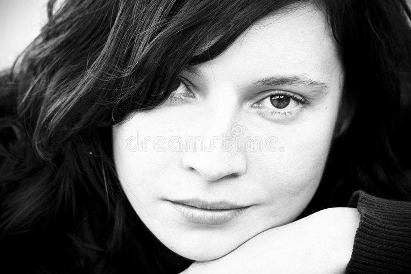 Femme songeur photographie stock