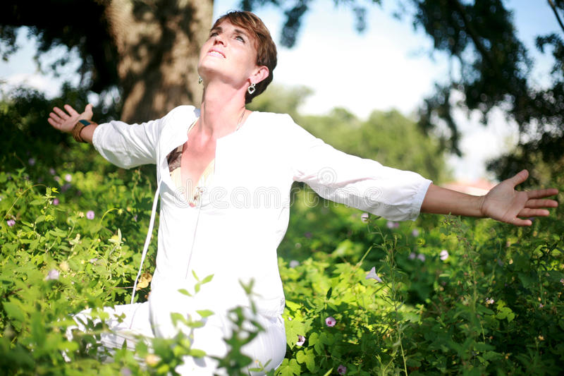 Femme spirituel image stock