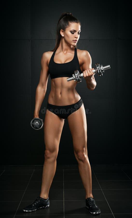 Femme sportive image stock