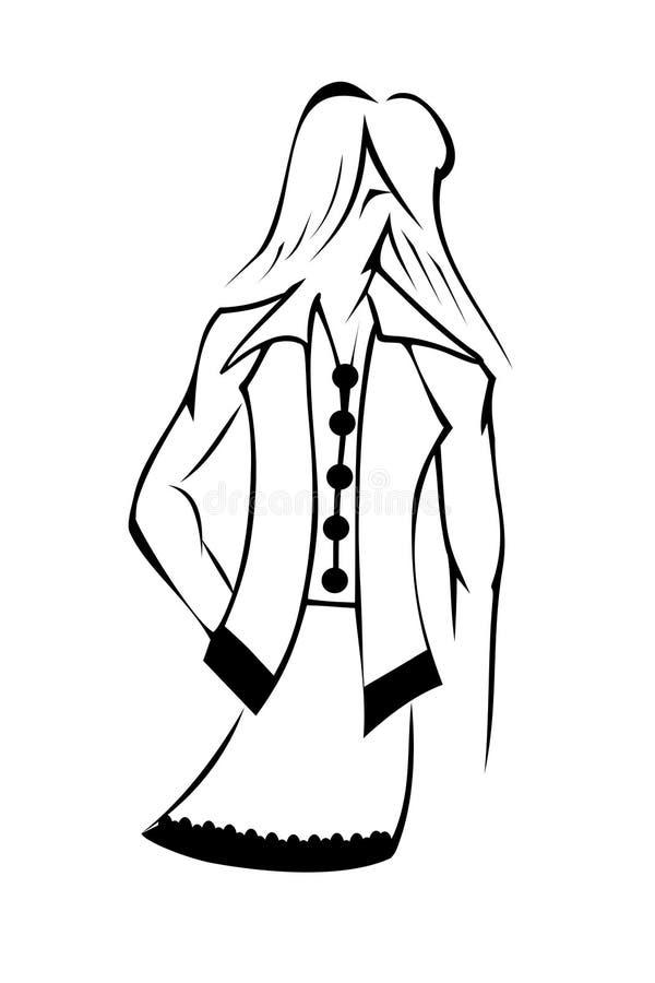 Femme stylisé illustration libre de droits