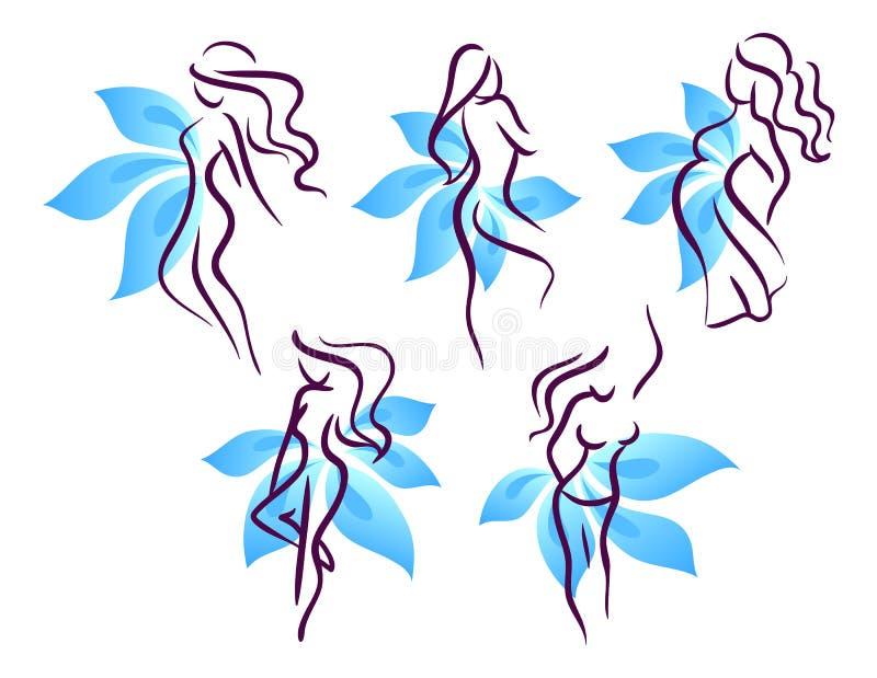 Femme stylisé illustration stock