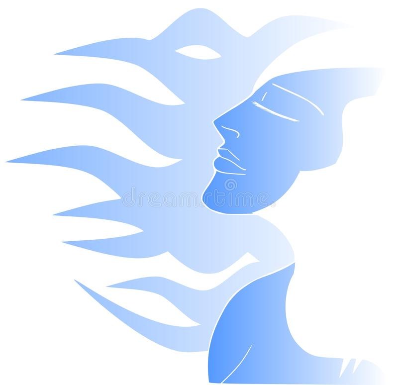 Femme stylisée illustration stock