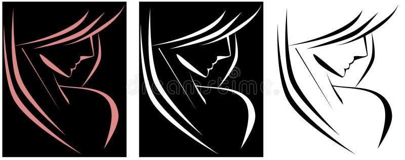 Femme stylisée illustration de vecteur