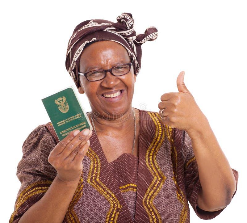 Femme sud-africaine supérieure photo libre de droits
