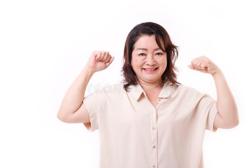 Femme supérieure en bonne santé et forte photographie stock