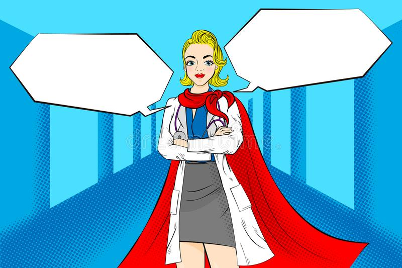 Femme superbe de bande dessinée illustration stock