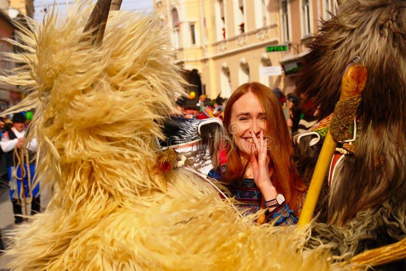 Femme sur le carnaval photo libre de droits