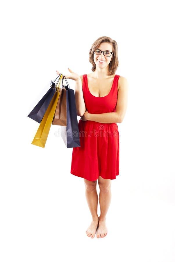 Femme sur shoping photo libre de droits