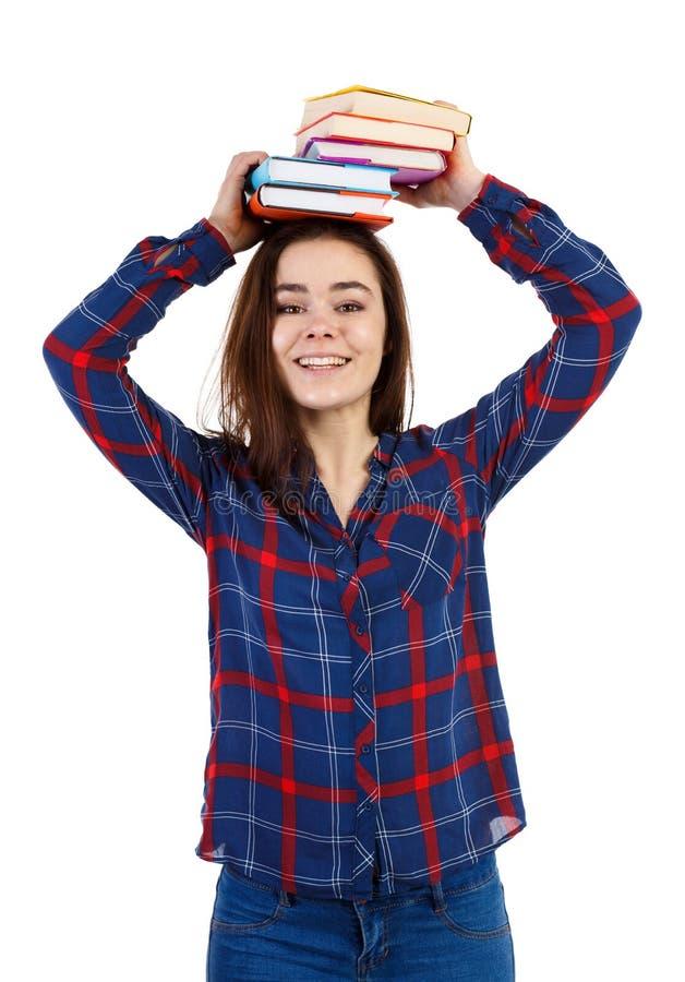 Femme tenant le livre photos libres de droits