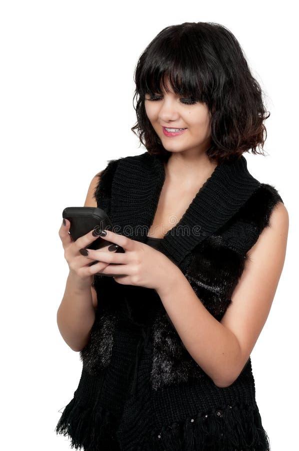 Femme texting photographie stock libre de droits