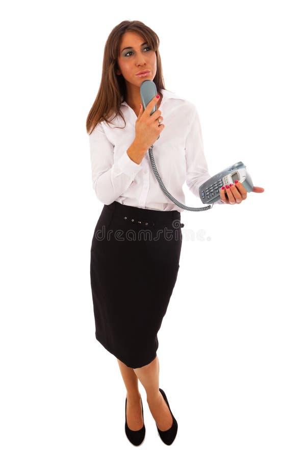 Femme Texting d'affaires image stock