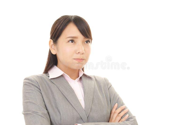 Femme très fâchée d'affaires photo stock