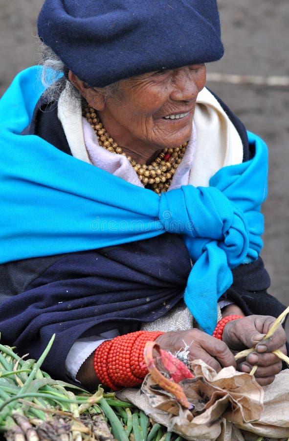 Femme traditionnelle d'Ecuadorian images libres de droits