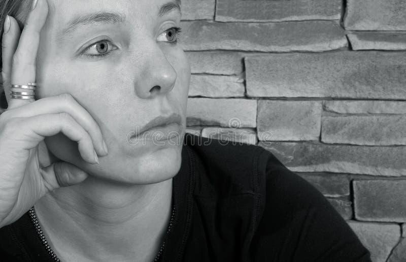 femme triste image libre de droits