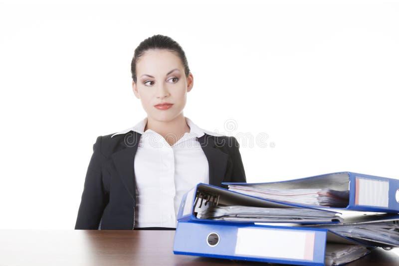 Femme fatiguée et exhousted d'affaires. image stock