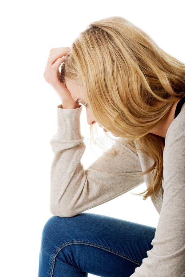 Femme triste et déprimée photos libres de droits