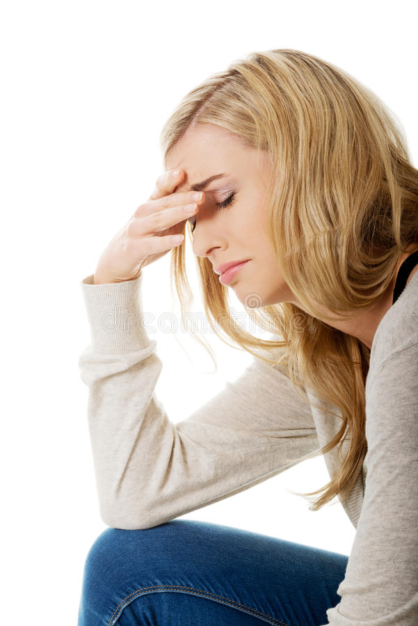 Femme triste et déprimée photos stock