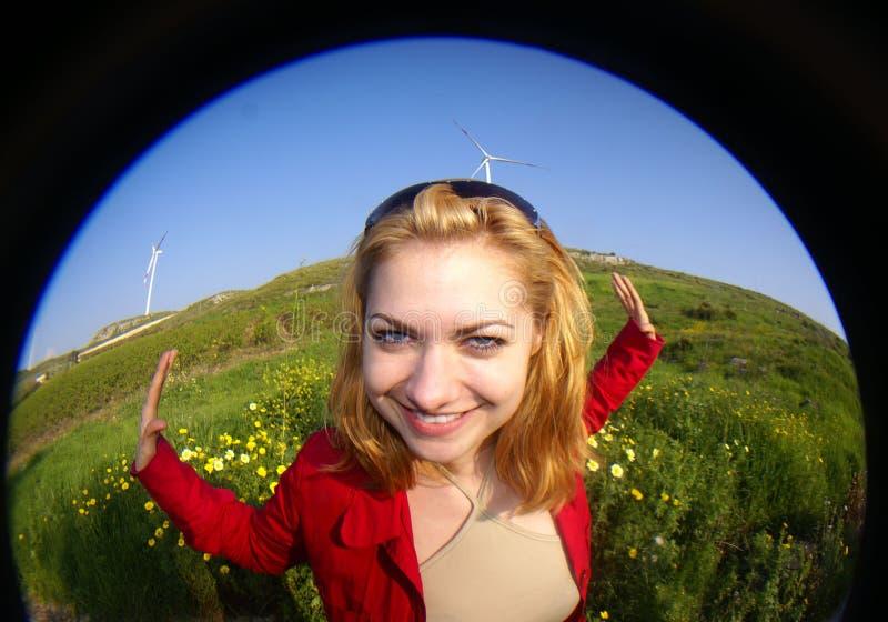 femme verte d'énergie photo stock