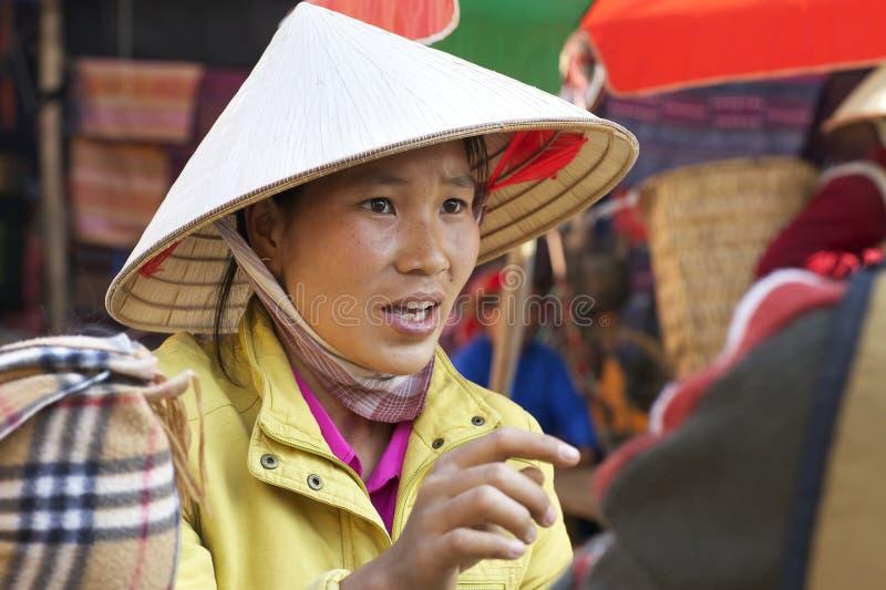 Femme vietnamien au repère photographie stock