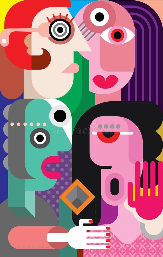 Femmes illustration de vecteur