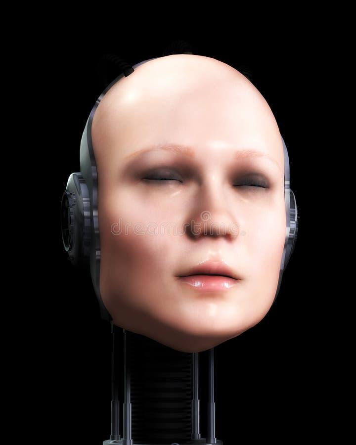 Femmes 6 de robot illustration stock