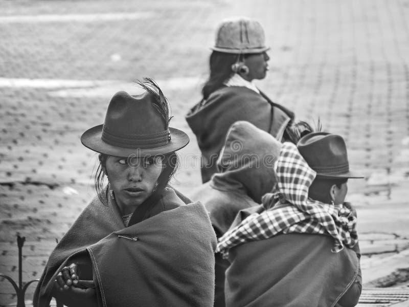 Femmes adultes indigènes équatoriennes photo stock
