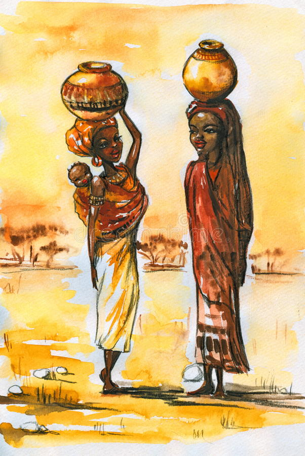 Femmes africains. illustration libre de droits