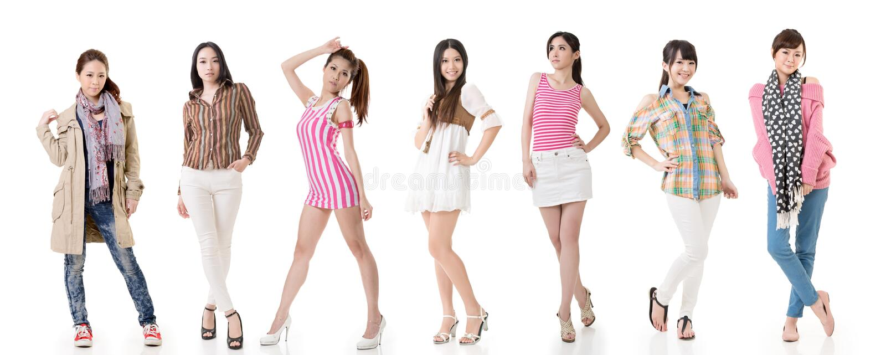 Femmes asiatiques photographie stock