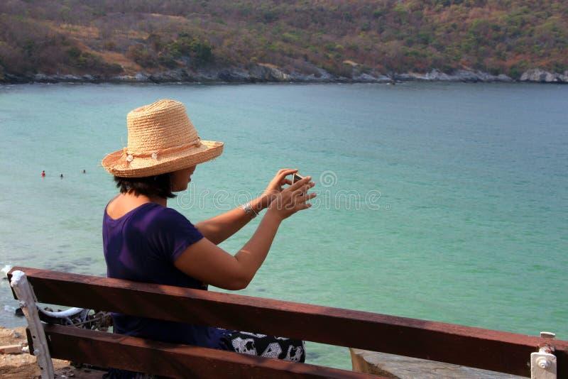 Femmes asiatiques de touristes images stock